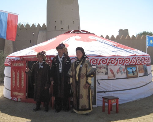 Steppe village at the Festival of Falconry
