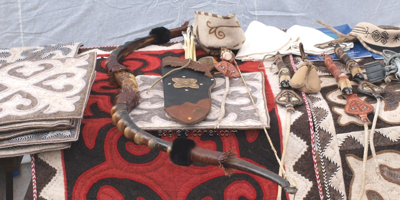 Kyrgyz hunting equipment at Festival of Falconry